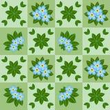 Nahtloses mit Blumenmuster mit blauen Blumen Stockfotografie