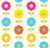 Muster-vektorentwurf der Frühlingsblume nahtloser Stockbild