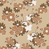 Nahtloses mit Blumenmuster mit einfachen Blumen Lizenzfreie Stockfotos