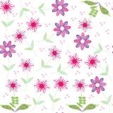 Nahtloses mit Blumenmuster mit netter abstrakter Blume Lizenzfreies Stockfoto