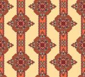 Nahtloses mit Blumenmuster Orientalischer dekorativer Hintergrund der abstrakten geometrischen Verzierung stock abbildung