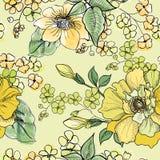 Nahtloses mit Blumenmuster Playnig mit Leuchte Lizenzfreies Stockfoto