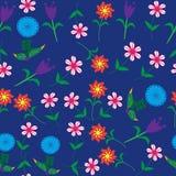 Nahtloses mit Blumenmuster und nahtloses Muster in Schalter Lizenzfreie Stockfotografie