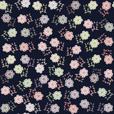 Nahtloses mit Blumenmuster und nahtloses Muster in Schalter Stockbild