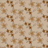 Nahtloses mit Blumenmuster Vector nahtloses Muster mit Lilienblumen auf weißem Hintergrund Stockfotos