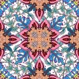 Nahtloses mit Ziegeln gedecktes Damast-Vektorluxusdesign des Musters königliches klassisches Stockfoto