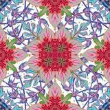 Nahtloses mit Ziegeln gedecktes Damast-Vektorluxusdesign des Musters königliches klassisches Stockfotografie