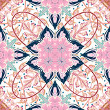 Nahtloses mit Ziegeln gedecktes Damast-Vektorluxusdesign des Musters königliches klassisches Stockfotos