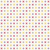 Nahtloses modernes geometrisches Polkarautenmuster Lizenzfreie Stockbilder