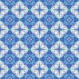 Nahtloses modernes helles Mosaikkaleidoskopmuster Lizenzfreie Stockbilder