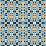 Nahtloses modernes helles Mosaikkaleidoskopmuster Lizenzfreie Stockfotos