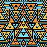 Nahtloses modernes Muster Mischung von Dreiecken und von Streifen Lizenzfreie Stockfotografie
