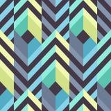Nahtloses modernes Muster mit Streifen und Rauten stockfoto