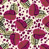 Nahtloses modisches Musterdesign mit Blättern Stockbild