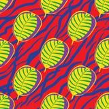 Nahtloses modisches Musterdesign mit Blättern Lizenzfreie Stockbilder