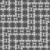 Nahtloses Monochrom des Designs, das dekoratives Muster wellenartig bewegt Lizenzfreie Stockfotografie