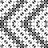 Nahtloses Monochrom des Designs, das dekoratives Muster wellenartig bewegt Lizenzfreie Stockfotos