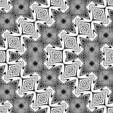 Nahtloses Monochrom des Designs, das dekoratives Muster wellenartig bewegt Stockfoto