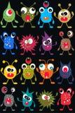 Nahtloses Monstermuster Stockbilder
