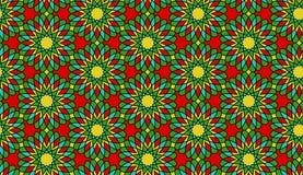 Nahtloses Mosaikblumenvektormuster/-hintergrund Lizenzfreies Stockfoto