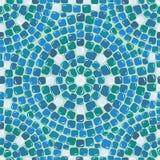 Nahtloses Mosaikmuster - blauer Keramikziegel Lizenzfreies Stockfoto