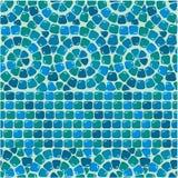 Nahtloses Mosaikmuster - blauer Keramikziegel Lizenzfreie Stockbilder