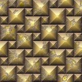Nahtloses Mosaikmuster der Entlastung 3d von verwitterten Würfeln stockfotografie