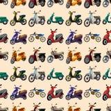 Nahtloses Motorradmuster Lizenzfreies Stockfoto