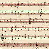 Nahtloses musikalische Darstellungs-Muster Stockfoto