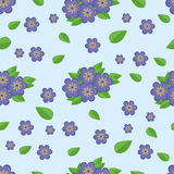 "Nahtloses Muster †""blaue Blumen Lizenzfreie Stockfotografie"