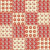 Nahtloses Muster 1 der Steppdecke Stockfoto