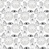 Nahtloses Muster alles sehende Auge vektor abbildung