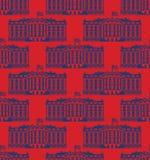 Nahtloses Muster Amerikas des Weißen Hauses US Präsident Residence Gehen Sie Stockfoto
