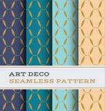 Nahtloses Muster 35 Art Decos Stockfotografie