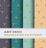 Nahtloses Muster 45 Art Decos Stockbilder