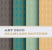 Nahtloses Muster 05 Art Decos Lizenzfreie Stockfotografie