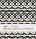 Nahtloses Muster 35 Art Decos Musterschwarzweiß- und -goldfarben 07 Art Decos nahtlose Lizenzfreie Stockfotos