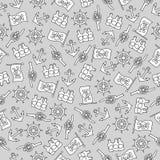 Nahtloses Muster auf dem Piratenthema Für Dekoration, die Verpackung, Druck oder die Werbung vektor abbildung