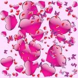 Nahtloses Muster auf Valentinstag Stockbilder