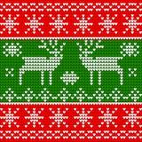 Nahtloses Muster auf Winterthema Stockfoto