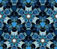 Nahtloses Muster bestanden aus den Farbzusammenfassungselementen gelegen auf weißem Hintergrund Stockfotografie