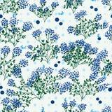Nahtloses Muster Blaubeerdes wilden Blatt-Punktes lizenzfreie abbildung
