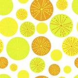 Nahtloses Muster. Blumen und Orangen Stockbild