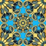 Nahtloses Muster Blumenverzierung des hohen Details Auch im corel abgehobenen Betrag Lizenzfreie Stockbilder