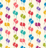 Nahtloses Muster-bunte Ballone für Feiertags-Feier-Ereignis Stockbild