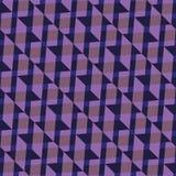 Nahtloses Muster Bunte Verzierung von Dreiecken und von Quadraten in den purpurroten Farben Stockfoto