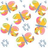 Nahtloses Muster Butterflyes Es ist im Mustermenü, vect Stockfotografie