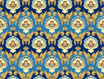 Nahtloses Muster Damaskus Stockbilder