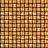 Nahtloses Muster, das einer Weidenkorbbeschaffenheit ähnelt Stockbild