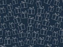 Nahtloses Muster Das Muster von Geschenkboxen Vektor Abbildung